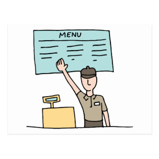 Fast Food Cashier Postcard