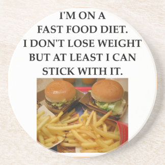 fast food drink coasters