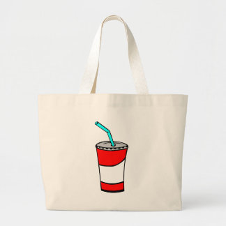 Fast Food Drink Large Tote Bag