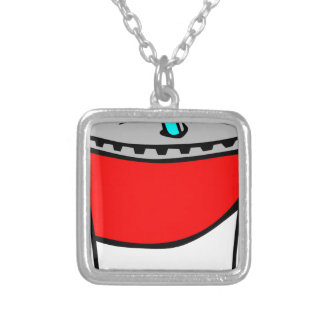 Fast Food Drink Silver Plated Necklace