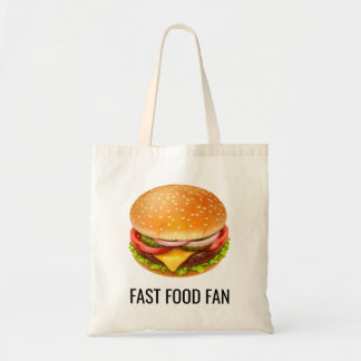 Fast Food Fan Budget Tote Bag
