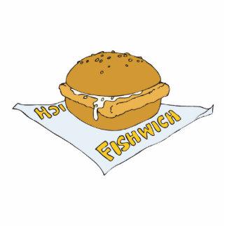 fast food fishwich sandwich standing photo sculpture