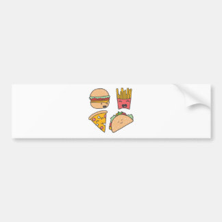 fast food friends bumper sticker
