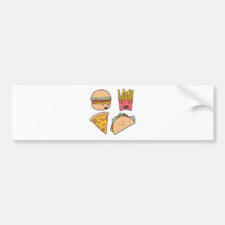 fast food friends bumper sticker