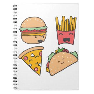 fast food friends notebook