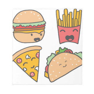 fast food friends notepad