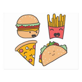 fast food friends postcard