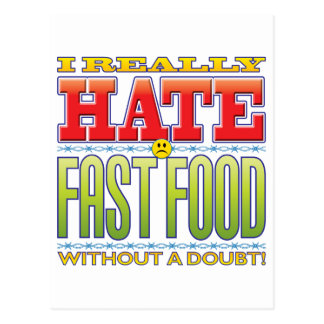 Fast Food Hate Face Postcards