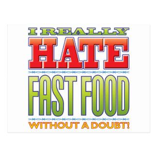 Fast Food Hate Postcards