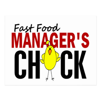 Fast Food Manager's Chick Post Cards