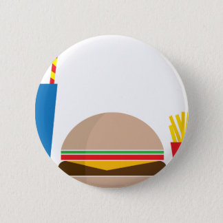 fast food meal 6 cm round badge