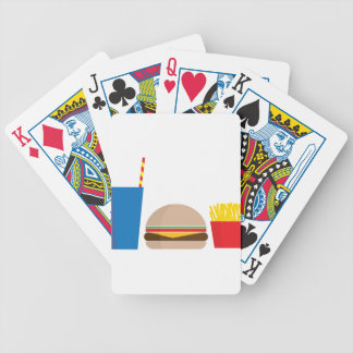 fast food meal bicycle playing cards