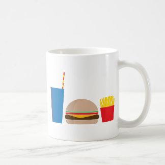 fast food meal coffee mug