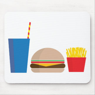 fast food meal mouse pad