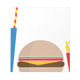 fast food meal notepad
