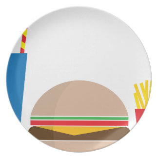fast food meal plate
