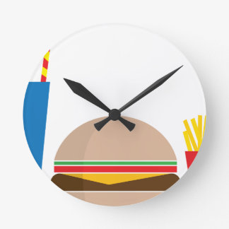 fast food meal round clock