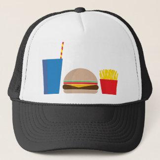 fast food meal trucker hat