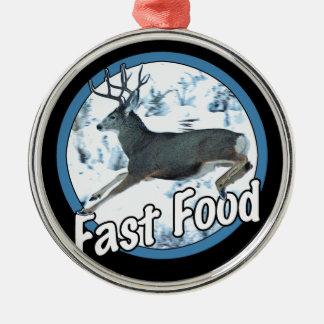 Fast Food Mule Deer Metal Ornament