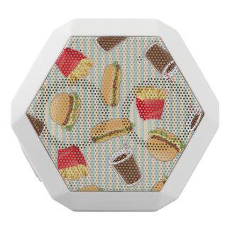Fast Food Pattern 2 White Boombot Rex Bluetooth Speaker