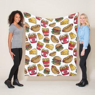 Fast Food Pattern fleece blankets