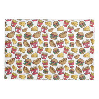 Fast Food Pattern pillowcases