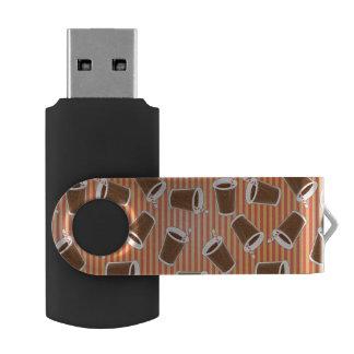 Fast food pattern swivel USB 2.0 flash drive