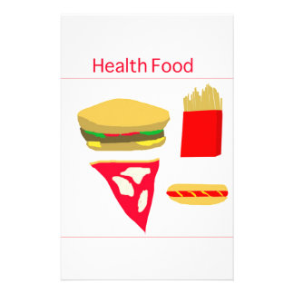 Fast Food Personalized Stationery