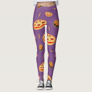 Fast food theme leggings