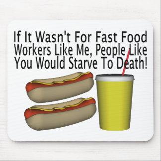 Fast Food Worker Mousepad