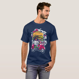 Fast Food's Runaway Burger: The Scooter Getaway T-Shirt