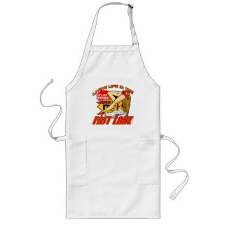 Fast Lane 40th Birthday Gifts Long Apron