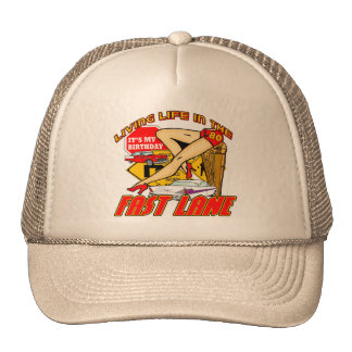 Fast Lane 80th Birthday Gifts Cap