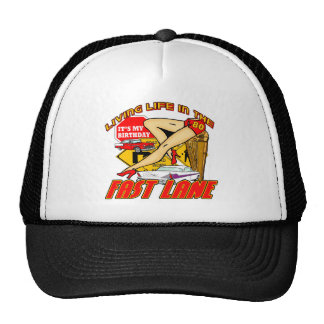 Fast Lane 80th Birthday Gifts Trucker Hats