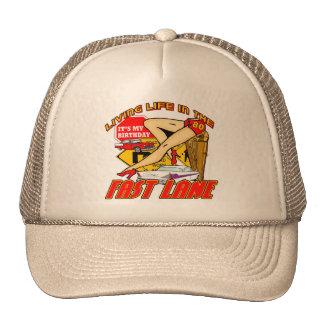 Fast Lane 80th Birthday Gifts Hats