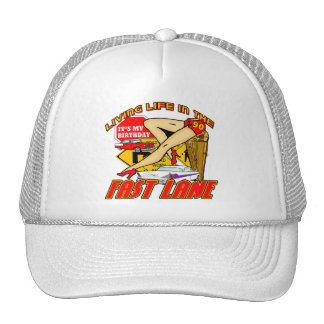 Fast Lane 90th Birthday Gifts Hat