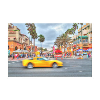 """Fast Motion Corvette"""" PCH and Mian Stree Canvas Print"""