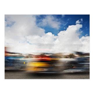 Fast Motorcycle Blur Postcard