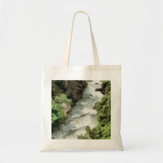Fast moving river tote bag