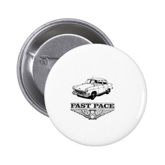 fast pace car yeah 6 cm round badge