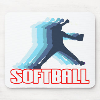 Fast Pitch Softball Silhouette Mouse Pad