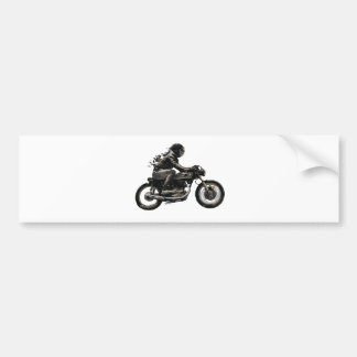 Fast Racing Cafe Racer Motorcyle Rider Bumper Sticker