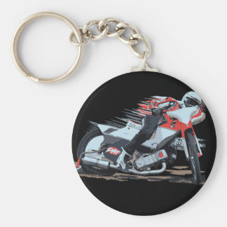 Fast Red Speedway Motorcycle Key Ring