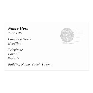 Fast. Rush. Symbol in Gray on White. Business Cards