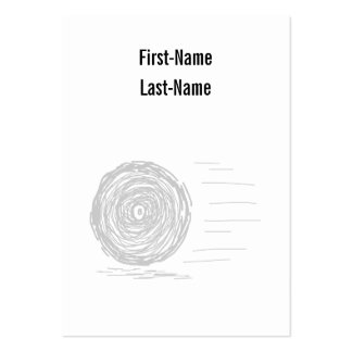 Fast. Rush. Symbol in Gray on White. Business Card