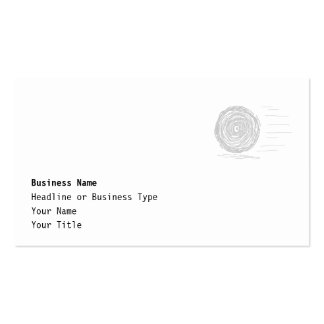 Fast. Rush. Symbol in Gray on White. Business Card Template