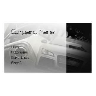 fast sport car in white business card