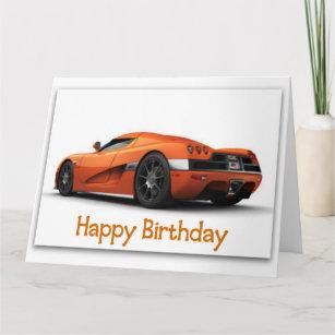 Fast Sports Car Jumbo Birthday Card