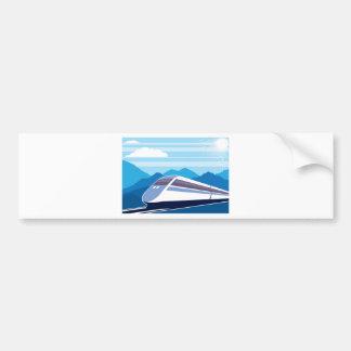 Fast Train Bumper Sticker