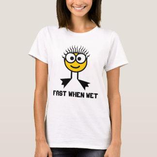 Fast When Wet -  Yellow Swim Character T-Shirt